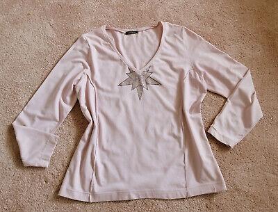 Damen Stern Strass Langarm-Shirt Damen Freizeit Sweatshirt Rundhals Longshirt