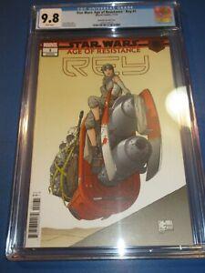Star-Wars-Age-of-Resistance-Rey-1-Quesada-Variant-Rare-CGC-9-8-NM-M-Gem-Wow
