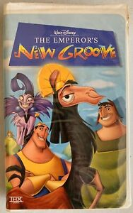 VHS-Tape-Walt-Disney-The-Emperor-039-s-New-Groove-21638-With-Clamshell-Case
