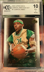 2003 Upper Deck LeBron James Rookie Card #1 Box Set BCCG 10 Mint Beckett Lakers