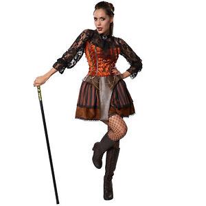 e9042f7936638 Caricamento dell immagine in corso Costume-Donna -Steampunk-Contessa-vittoriano-Sci-Fi-Gotica-