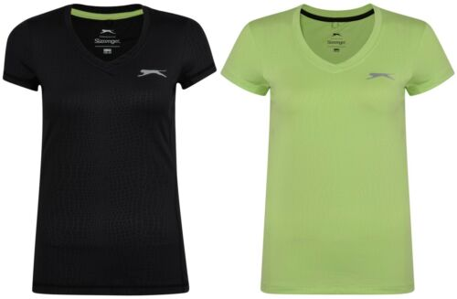 New Slazenger AOP T-Shirt Top Ladies Womens Gym Training Fitness Running