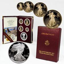 1995-W U.S. Mint 10th Anniversary Gold and Silver Eagle Proof Set SKU1342