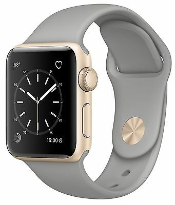 Apple Watch Series 2 38mm Gold Aluminum Case Concrete Sport Band MNP22LL/A