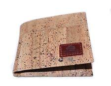 Brown Cork Wallet Vegan Wallet for Men, Slim Bifold, Cork Wallet