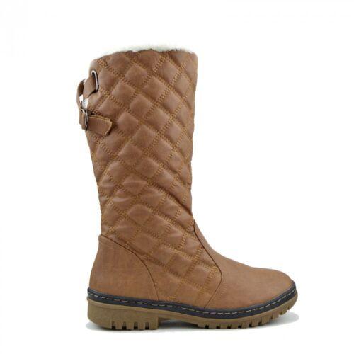 dames neige ski de de mollet hiver pour chaudes pour Bottes mi matelassées dames chaussures AqZtw