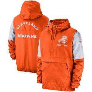 outlet store b7f05 7b97b Details about New 2019 Nike Cleveland Browns Fan Gear Historic Anorak 1/4  Zip Pullover Jacket