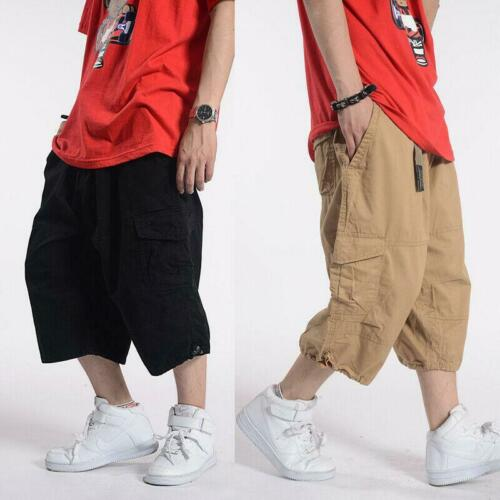 Military Men/'s Cotton Blend Cargo Loose Fit Shorts Multi Pocket Army Short Pants
