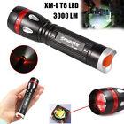 3000LM 3 Modes Zoom CREE XML T6 LED 18650 Waterproof Flashlight Torch Lamp Light