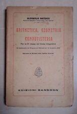 ARITMETICA, GEOMETRIA E COMPUTISTERIA NATUCCI 1926