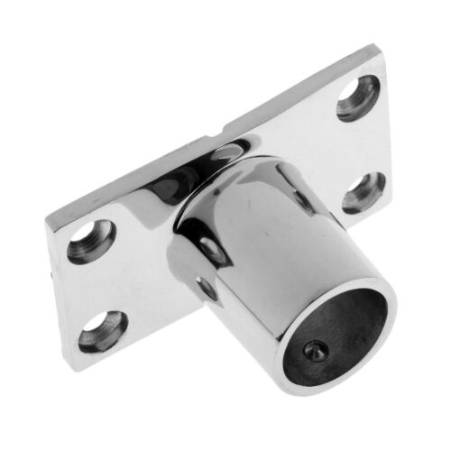 Boat Hand Rail Fitting 90 Degree 25mm Stanchion Base Marine Stainless Steel