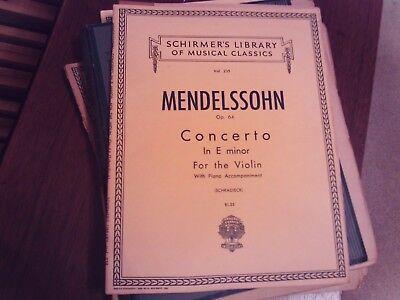 Mendelssohn Concerto in E minor Op 64 Sheet Music Violin and Piano NE 051480720