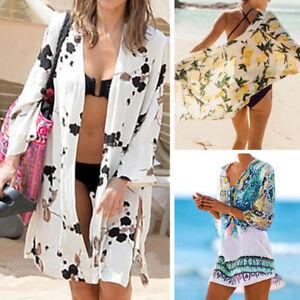34988b45d9 Womens Swimwear Beachwear Bikini Beach Wear Cover Up Kaftan Chiffon ...