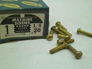 1//4-20 X 1//2 Slotted Round Machine Screw Brass Package Qty 100