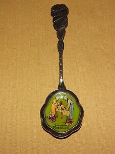 """VINTAGE 1ST EDITION 1982 NORMAN ROCKWELL CHRISTMAS SPOON ENAMELED  5"""""""
