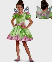 Disney Fairies Tinkerbell Costume Size 3-4 Toddler 3 4 T W Locket