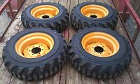 4 10x16.5 Skid Steer Tires & Rims For Case 1835 ,1838, 1840-10-16.5 -10 Ply