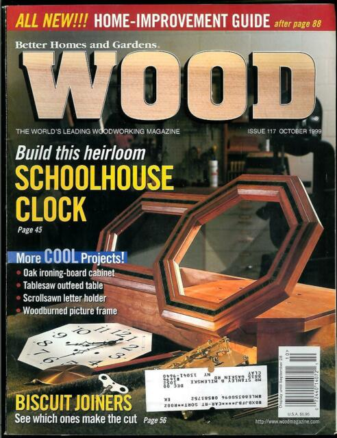 Wood Magazine # 117 by Better Homes & Gardens (October 1999) Schoolhouse Clock