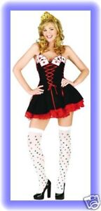 FANCY DRESS CASINO QUEEN COSTUME SIZES 8 TO 18
