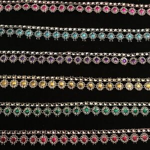 99//meter New Gorgeous metal effect fancy ribbon almost 1.5 cm wider just £0