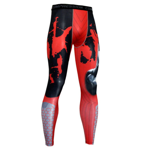 Men/'s Gym Running Compression Leggings Workout Under Base Layer Tight fit Pants