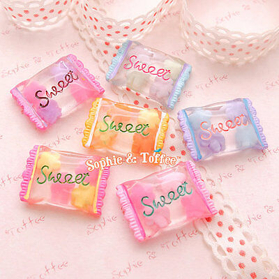 Fake Candy Sweet Resin Cabochon | Kawaii Cabochon | Decoden Cabochon - 6pc