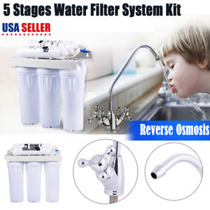 5 Stage Home Drinking Water Osmosis System Water Filters with Faucet