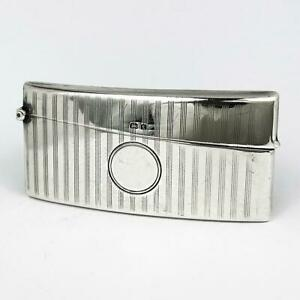 GEORGE-V-STERLING-SILVER-CALLING-CARD-CASE-Birmingham-1918-Joseph-Gloster
