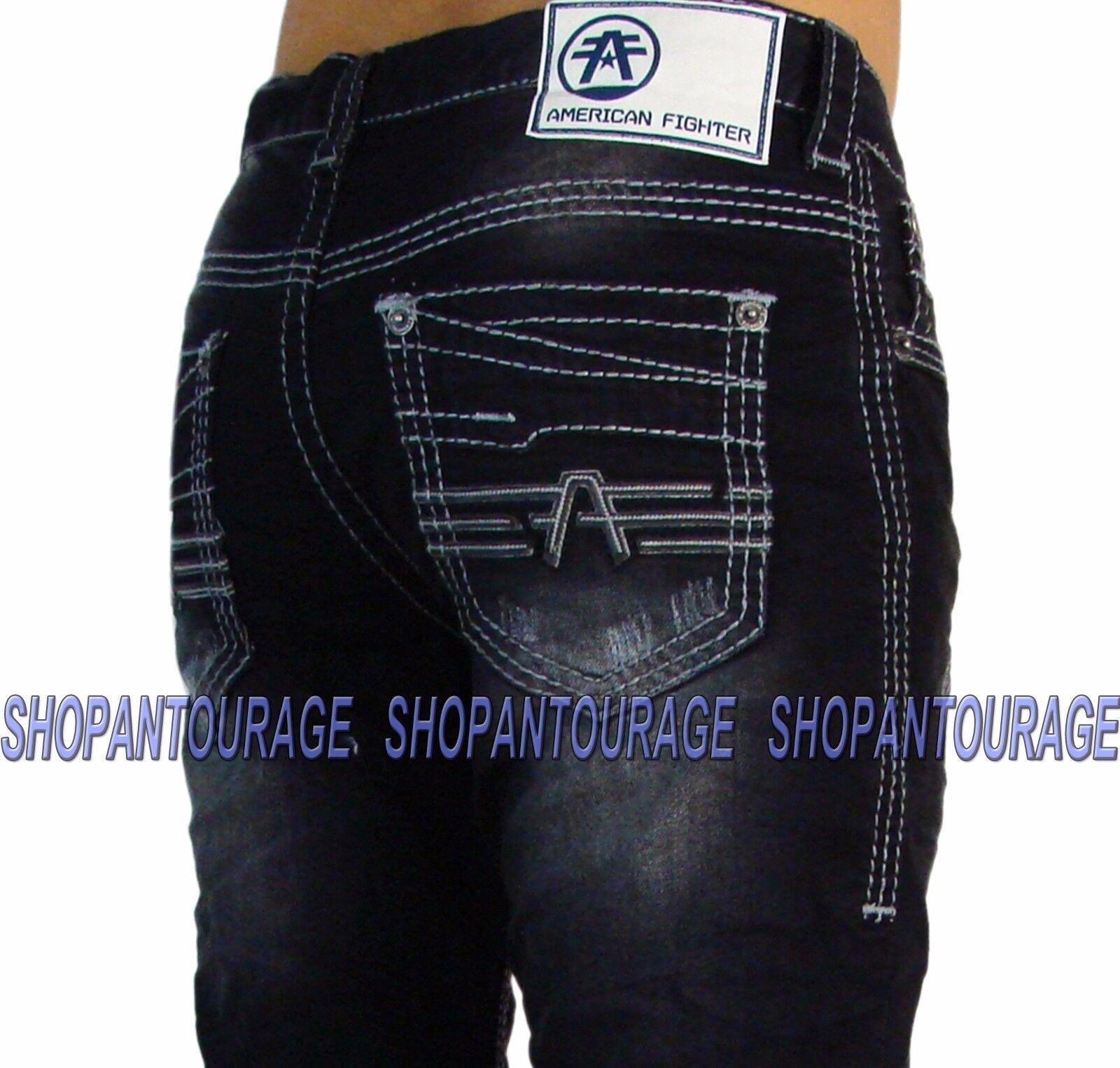 American Fighter Legend Averex Springfield 331SS129 Men`s Slim Straight Denim