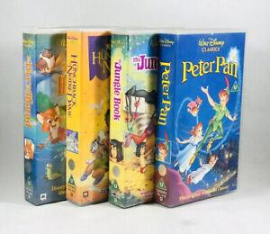 Walt-Disney-Classics-4-x-VHS-Video-Tape-Bundle