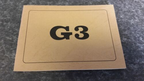 Manuel d/'utilisation pour le g3 de Heckler /& Koch