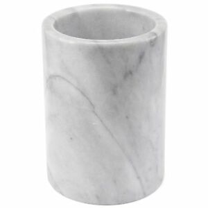Creative Home Natural Marble Tool Crock Utensil Holder