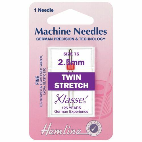 Twin Stretch Agujas de máquina-Fino 75-2.5mm