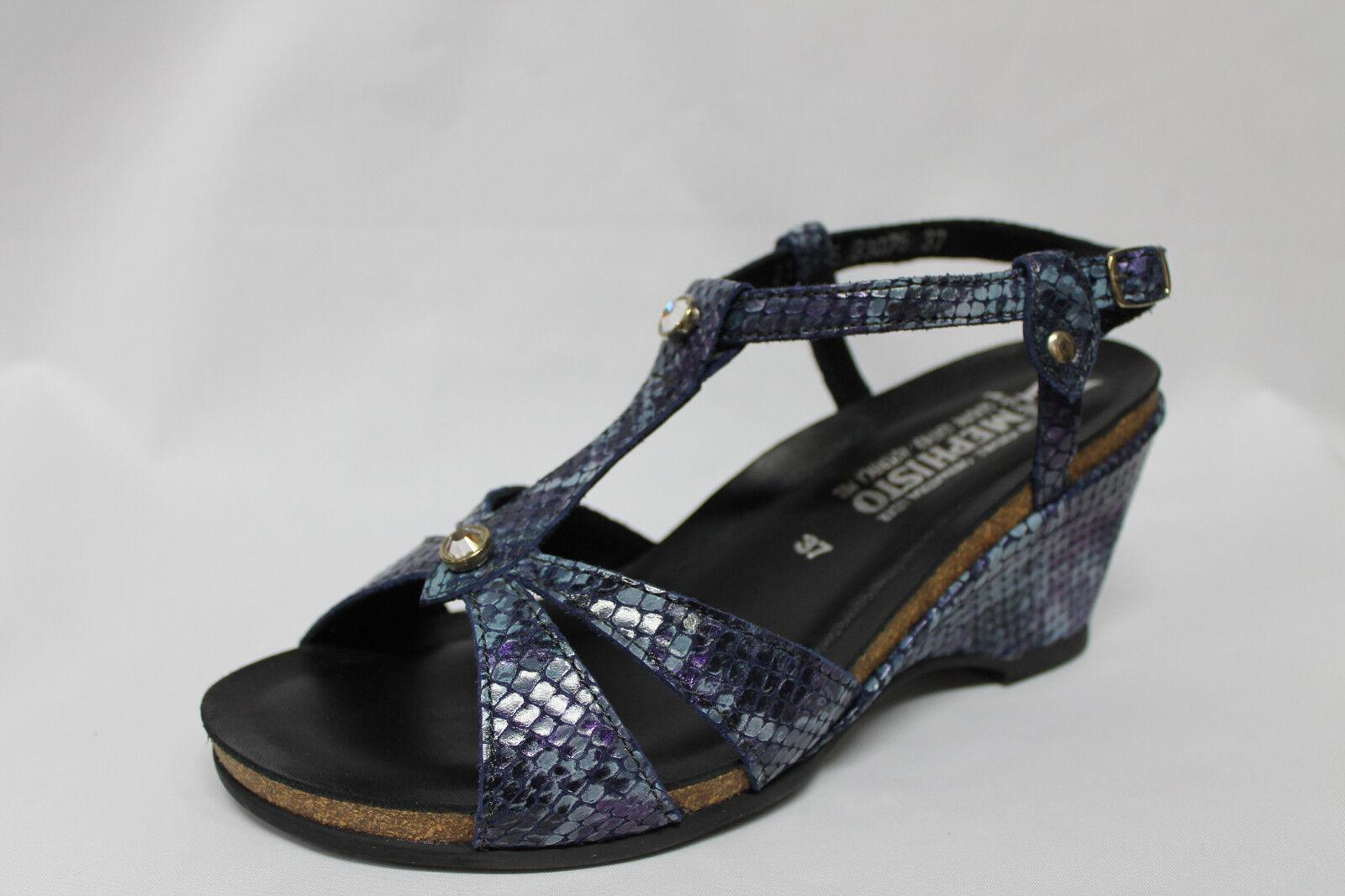 Sandals Mephisto NICASIA Leather Snakeskin Wedge 7 cm list  139 - 30%
