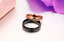 2-Anello-Coppia-Fedi-Fede-Fedine-Fidanzamento-Nuziali-Oro-Cuore-Cristallo miniatura 2