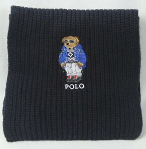 2f53163b ... promo code for image is loading polo ralph lauren collectable black  teddy bear scarf e2374 0e9a7 ...