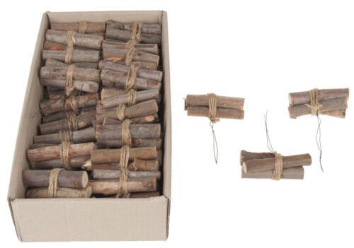 8cm Holzstücke Aststücke Eucalyptuszweige natur am Draht 36 Stück ca