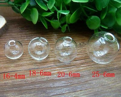 Fashion Jewelry Glass Ball Bottles Clear Creative Charm Vials Globe Cover PG07