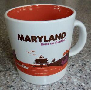 """""""Maryland Runs On Dunkin'"""" 2013 Limited Edition Dunkin Donuts Mug, 14oz."""
