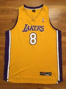 Authentic Nike 2003 Los Angeles Lakers Kobe Bryant Home Yellow ...