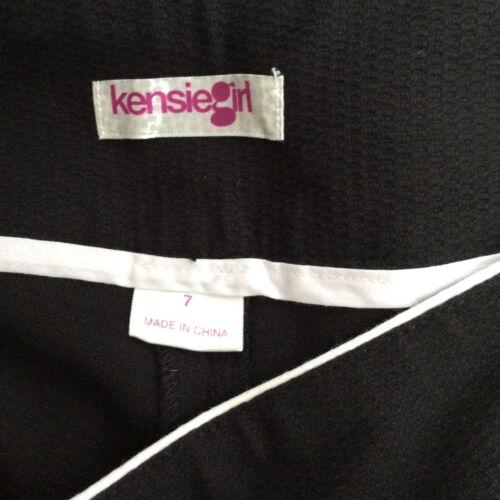 7 taglia rifiniture Novità Kensie Girl con neri Pantaloncini bianche zv0qUU