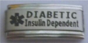 9mm-Classic-Size-Italian-Charm-L26-Superlink-Diabetic-Diabetes-Insulin