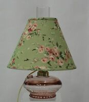 Clear Pink Electric Glass Oil Lamp With Shade