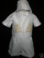 Baby Boy Communion Christening Baptism Outfit Suit Set Size 01234 (0-24m)