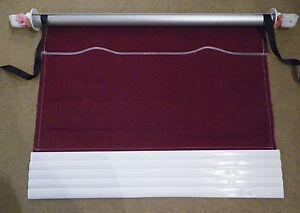 Dometic Oem Rv Window Awning Crimson Maroon White 43 Fabric Metal