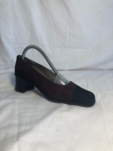 RUSSELL-amp-BROMLEY-SUEDE-COURT-SHOES-PURPLE-NAVY-BLACK-SIZE-UK4-EU37