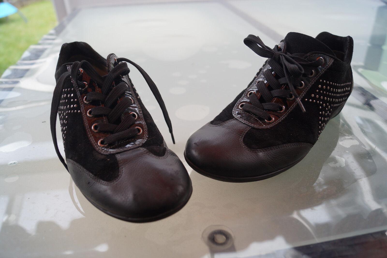 HASSIA Roma H Damen Comfort Schuhe schwarz schnürer Leder Einlage Gr.6/ 39,5 schwarz Schuhe #5k 3a30f0