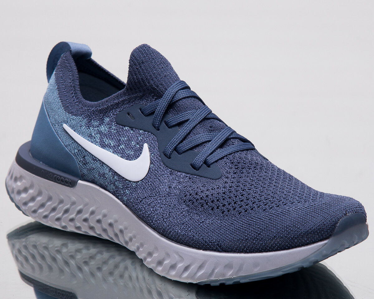 Nike Epic Reagieren Reagieren Reagieren Flyknit Damen Laufschuhe Verbreitet Blau Turnschuhe AT0055-400 6d6b70