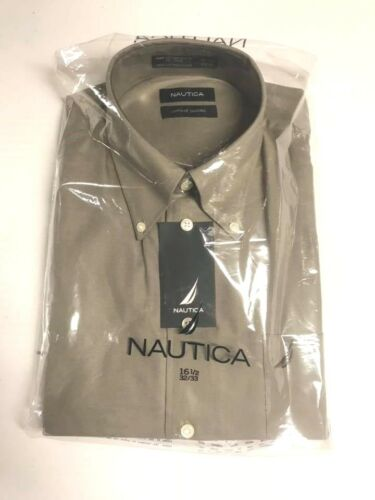 NWT Men/'s Nautica Long Sleeve Dress Shirts Multiple Sizes /& Colors