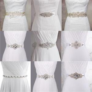 Fashion Bridal Gown Crystal Sash Wedding Dress Pearl Belt Bridesmaid ... 030bcdbf6545